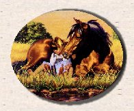 Canadian Equine sites ring logo. Horses, Canada, Canadian equine products, horse clubs, tack shops